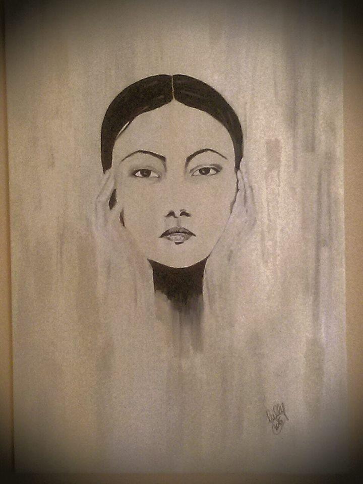 viso di donna disegno Laura Lepore Artista Torino